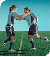 esercizi calcio 11+ 10 equilibrio su una gamba sola 3