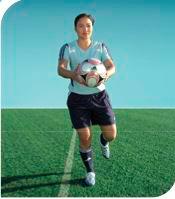 esercizi calcio 11+ 10 equilibrio su una gamba sola