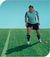 esercizi calcio 11+ 15 corsa arresto cambio di direzione
