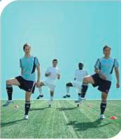 esercizi calcio 11+ 2 corsa anca in fuori