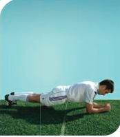 esercizi calcio 11+ 7 plank